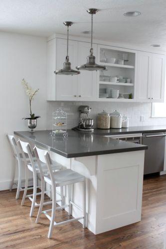quartz countertops kitchen cabinet countertop White cabinets subway tile quartz countertops