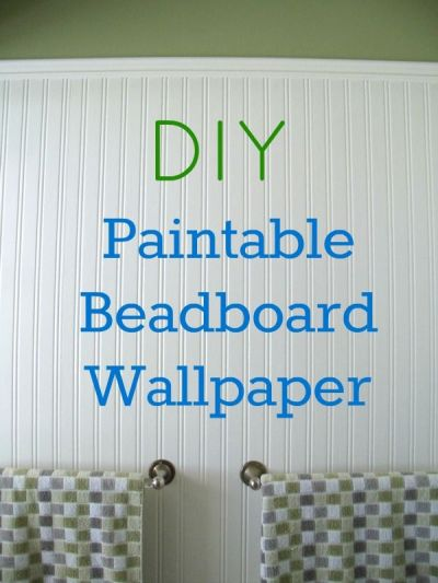 How to Install Beadboard Paintable Wallpaper | Simple, Beautiful and Small half baths