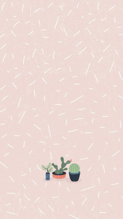 Cactus Girl Pastel iPhone Home Wallpaper @PanPins | iPhone Wallpapers & Themes | Pinterest ...