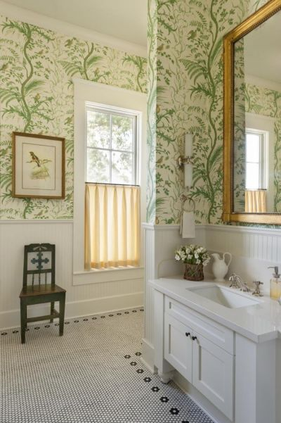 17 Best ideas about Bathroom Wallpaper on Pinterest | Bath powder, Powder room wallpaper and ...