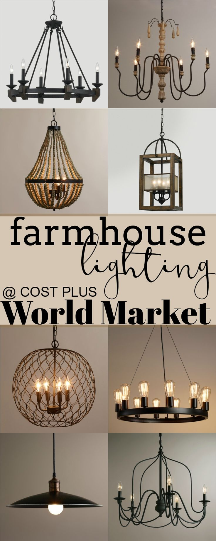 rustic lighting farmhouse kitchen lighting fixtures Cost Plus World Market is my go to for unique finds These light fixtures are