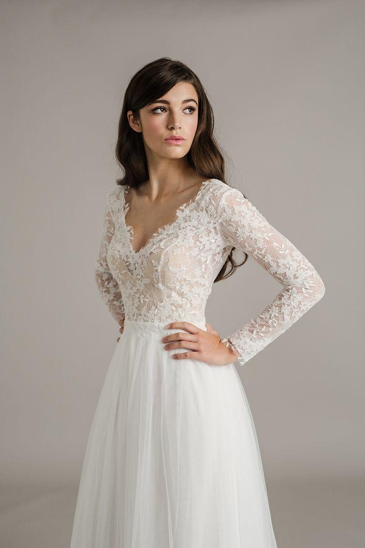 lace sleeve wedding dress sleeved wedding dress The Stunning Sally Eagle Wedding Collection