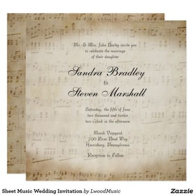 17 Best ideas about Music Wedding Invitations on Pinterest ...