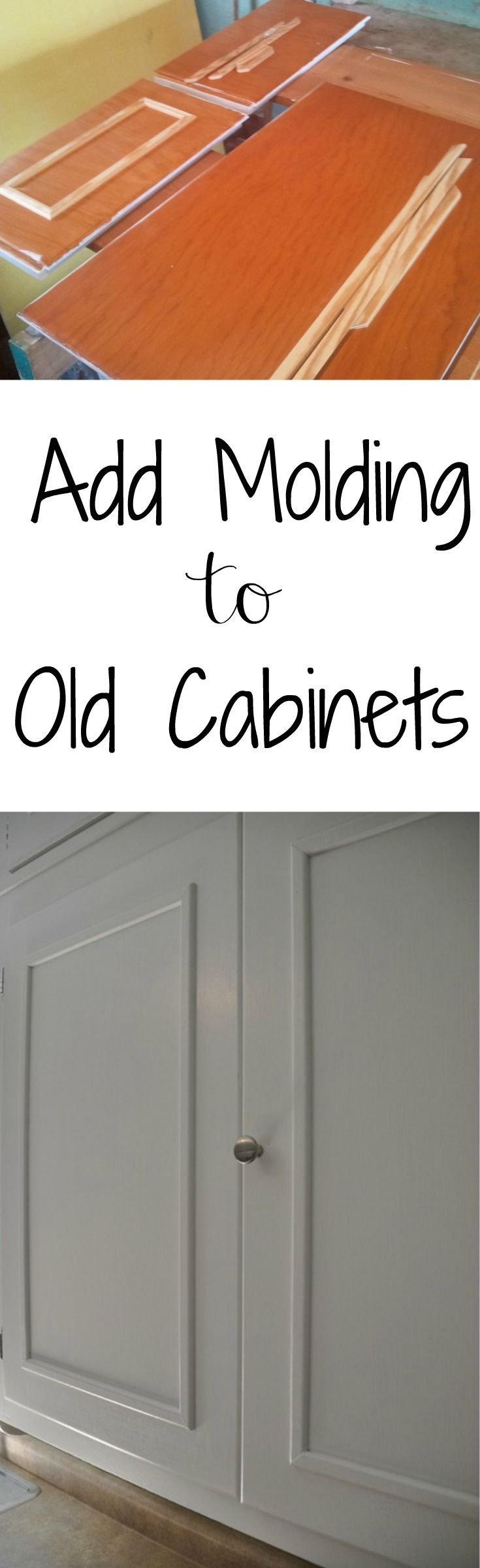 cabinet door makeover old kitchen cabinets Add Molding to Old Cabinets Great way to update those old and boring cabinets