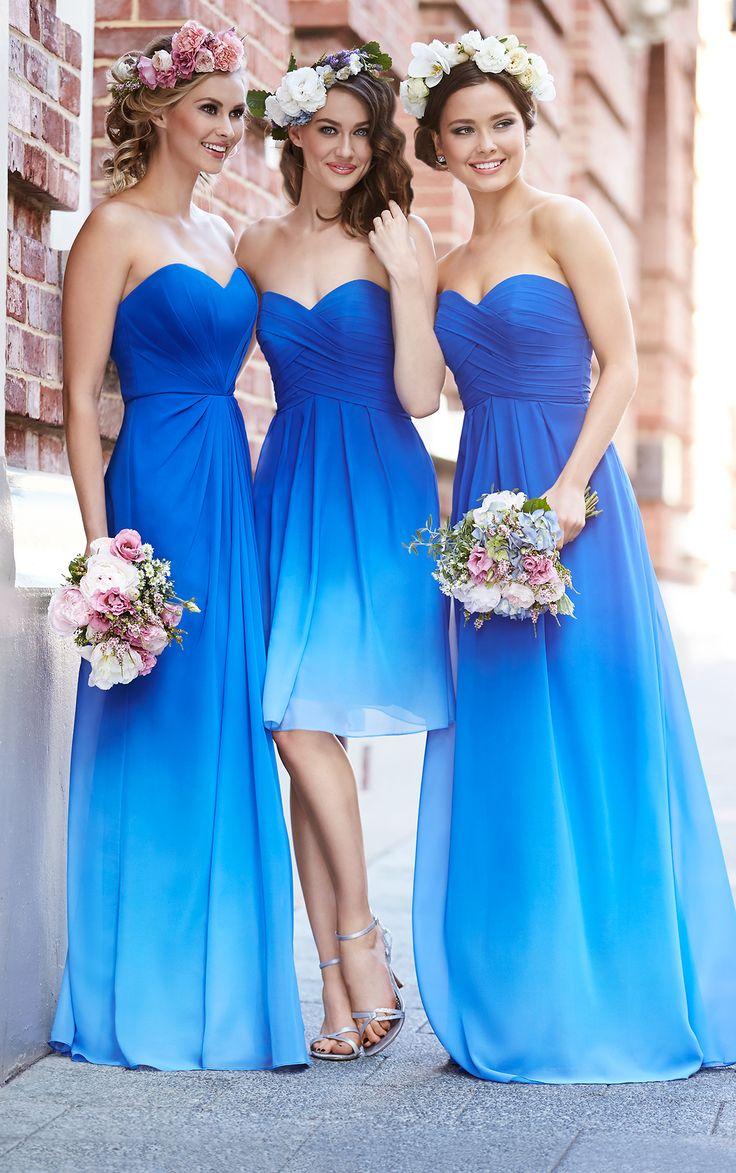 ombre bridesmaid dresses wedding dress blue Romantic Cocktail Dress by Sorella Vita