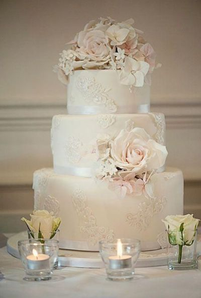 25+ best ideas about Lace Wedding Cakes on Pinterest ...