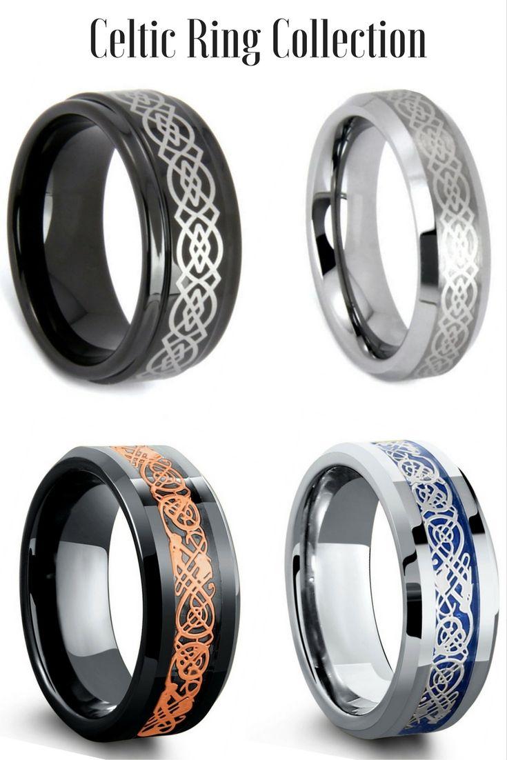 mens celtic wedding bands celtic wedding rings Mens Celtic Tungsten Wedding Rings I love all these celtic rings Some of the