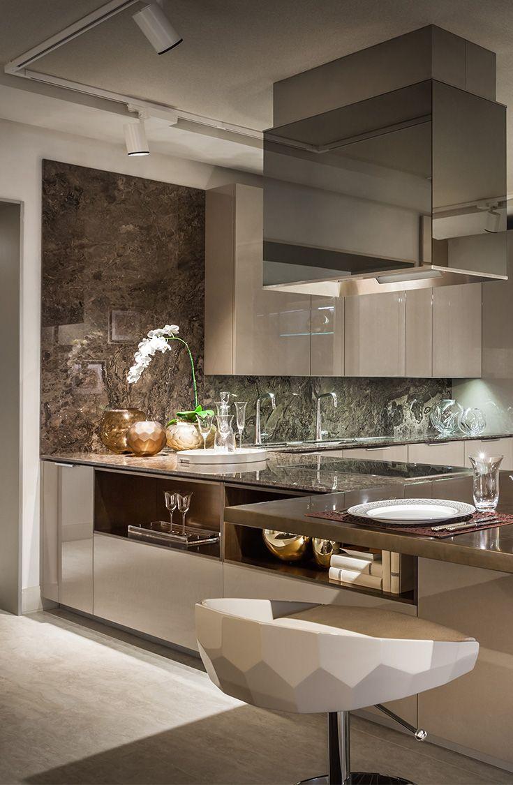 modern kitchens design a kitchen Fendi Casa Ambiente Cucina views from Luxury Living new showroom in Miami Design Destrict MiamiDesignDistrict