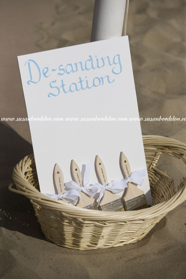beach wedding shoes beach wedding shoes Station where guests can brush the sand of their feet before putting their shoes back on Beach Wedding