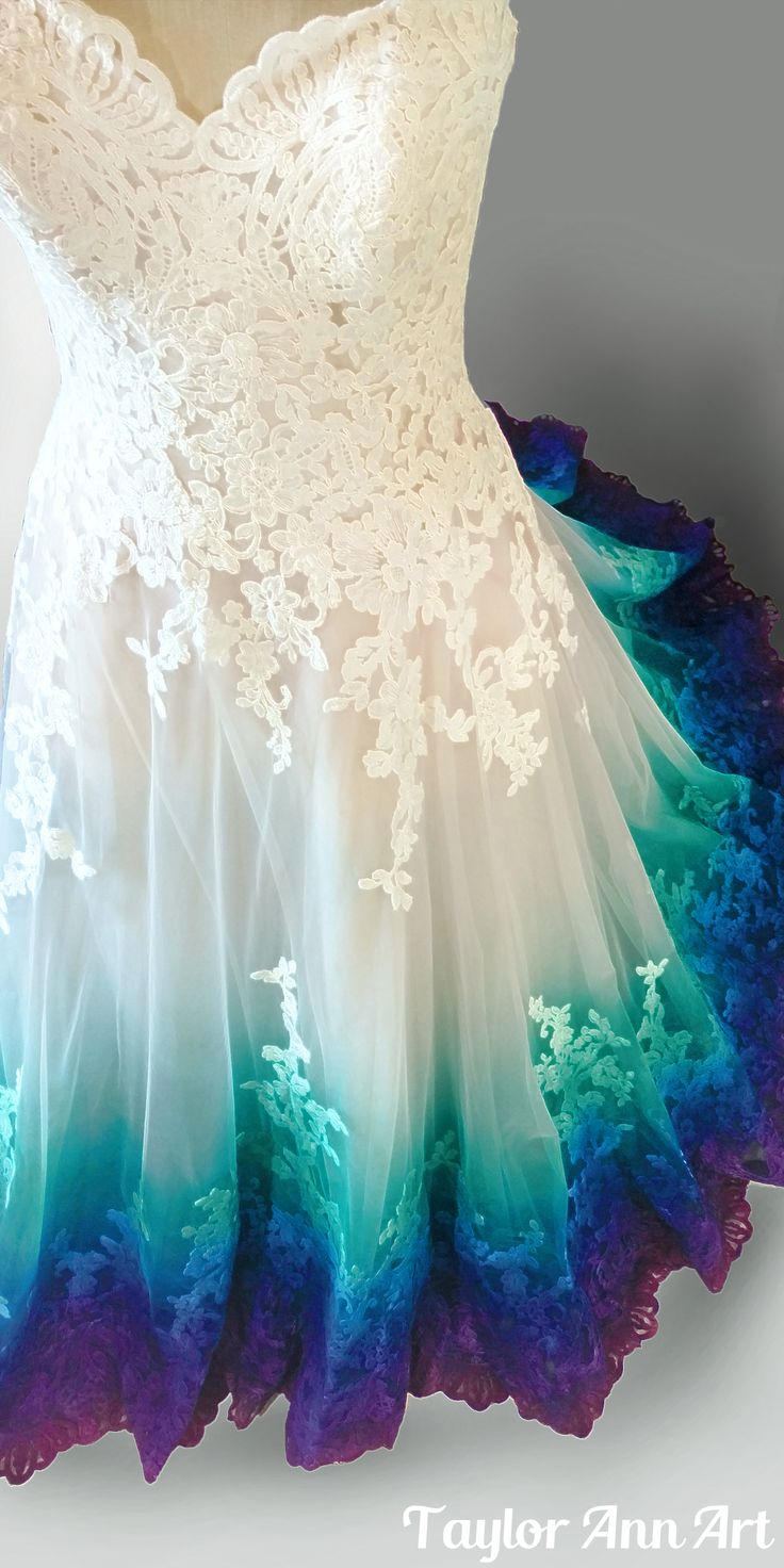 peacock wedding dresses colorful wedding dress Peacock Dress Coloring by Taylor Ann Art Click the image for more details on getting