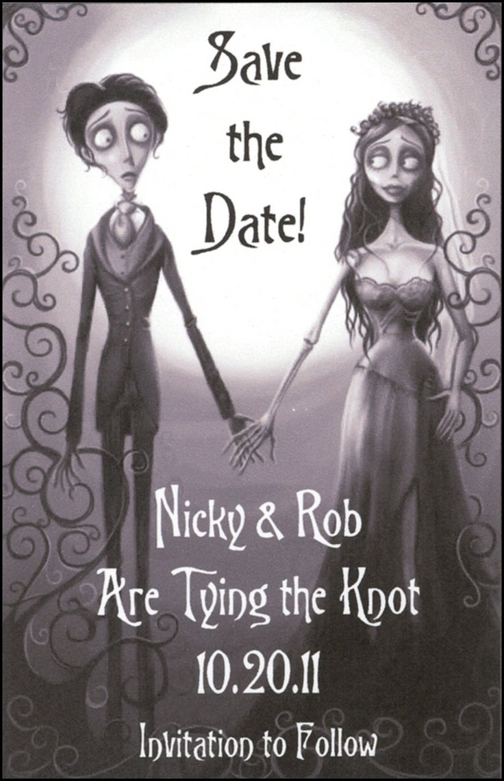 wedding gothic wedding invitations Corpse Bride Gothic Halloween Themed Save the Date Wedding Magnets or Wedding Favors 24 99