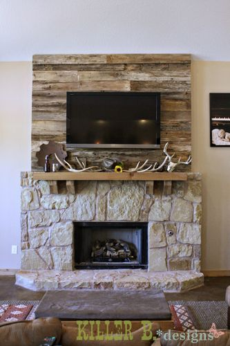 17 Best ideas about Fireplace Accent Walls on Pinterest | Kitchen accent walls, Wood walls and ...