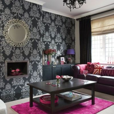Scion Cushion | Silver wallpaper, Silver living room and Pink accessories