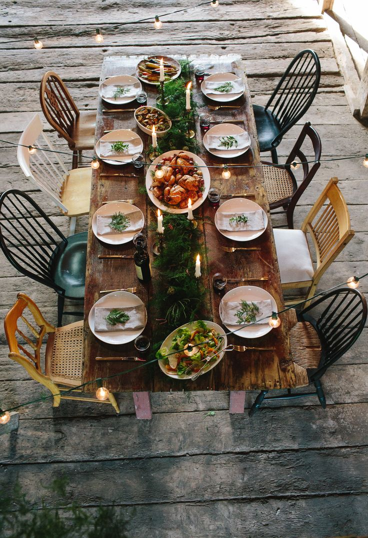 dining chairs two seat kitchen table Rustic Friendsgiving Inspiration Delicious Recipes Mix Matched Dining ChairsDining Table
