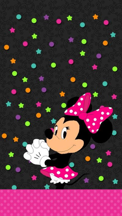 Minnie Mouse Wallpaper   Mickey Mouse   Pinterest   Mini mouse, Minnie mouse and Minis