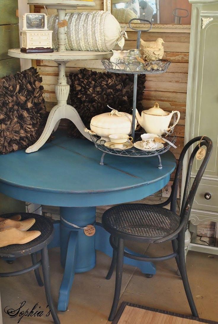 refinished furniture ideas painted kitchen tables updated painted kitchen table paint 25 each and the little two tiered
