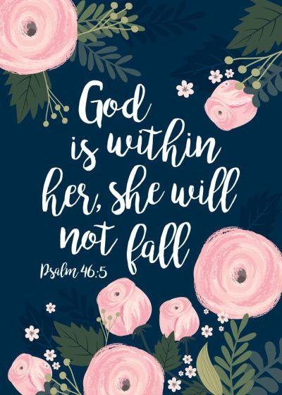 God is within her she will not fall – La Petit Muse