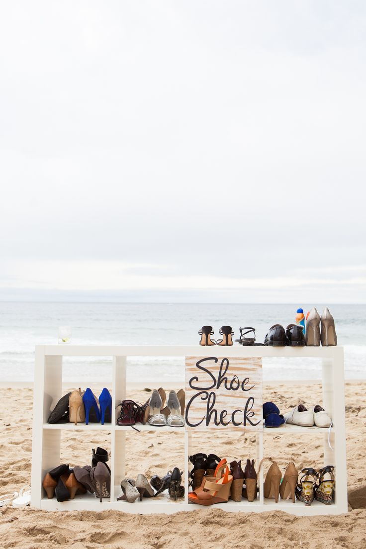 nautical wedding beach wedding shoes Beach shoe rack by Urban Earth Photography