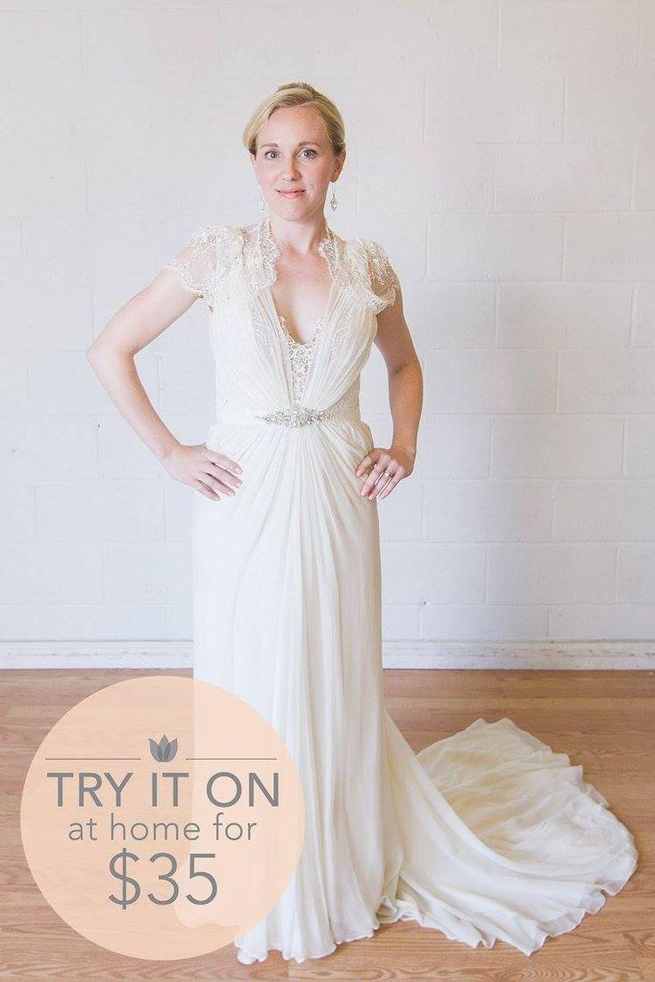 cap sleeve wedding dresses borrow wedding dress Jenny Packham Aspen Size 4 Borrow this designer gown for 75