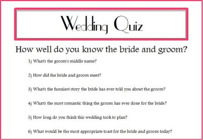 wedding quizzes for guests - Google Search | Wedding 2015 ...