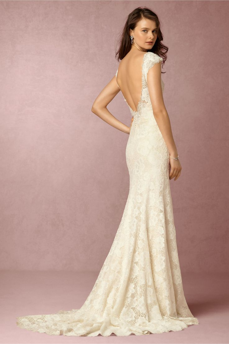 bhldn wedding gowns backless wedding dresses 15 Beautiful Backless Wedding Dresses Gowns
