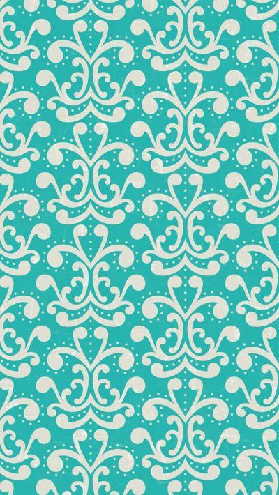 iphone 5 wallpaper - #aqua #damask #pattern | mobile wallpapers. | Pinterest | Aqua wallpaper ...