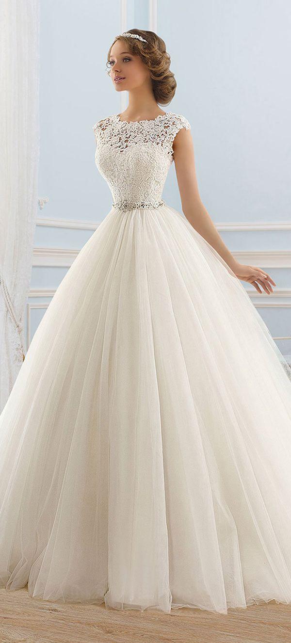 bateau wedding dress ball gown wedding dress Junoesque Tulle Bateau Neckline Ball Gown Wedding Dress