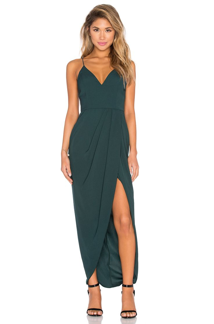summer wedding guest dresses dresses wedding guest Shona Joy Stellar Drape Maxi Dress in Seaweed Wedding Guest