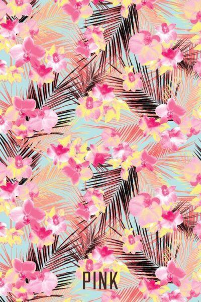 Iphone wallpaper floral pink victoria secret cool summer fun flowers nature heat | Wallpaper for ...