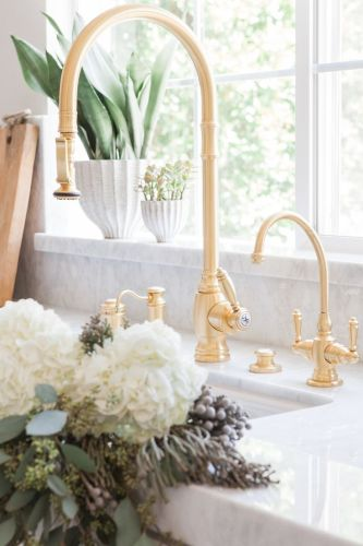 brass kitchen taps unlacquered brass kitchen faucet Find this Pin and more on Kitchen