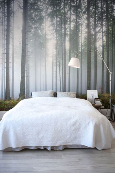 25+ best ideas about Bedroom wallpaper on Pinterest | Bed, Tree wallpaper and Wall murals bedroom