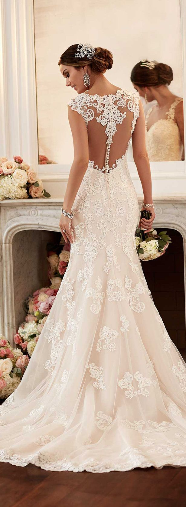 wedding dress and fashions wedding dress with feathers Stella York Spring Bridal Collection