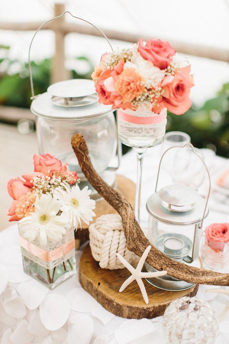 beach wedding centerpieces wedding centerpieces ideas 45 Coral Wedding Color Ideas You Don t Want to Overlook