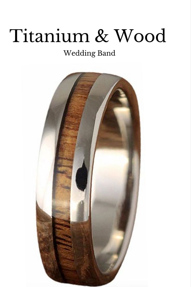 wedding band men mens titanium wedding bands Beautiful mens wood wedding band This wedding band is made out of titanium and