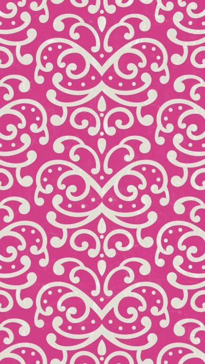 iphone 5 wallpaper - #pink #damask #pattern | mobile wallpapers. | Pinterest | Pink patterns ...