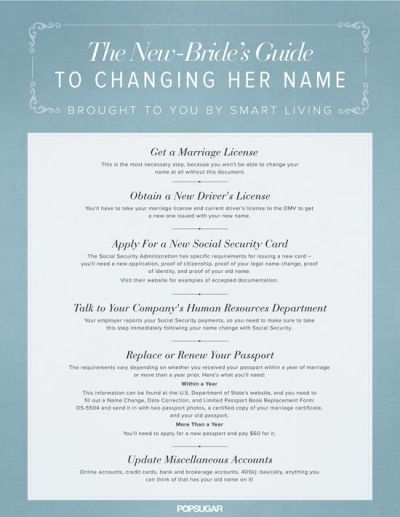 Name Change on Pinterest. 100+ inspiring ideas to discover and try. | Name change checklist ...