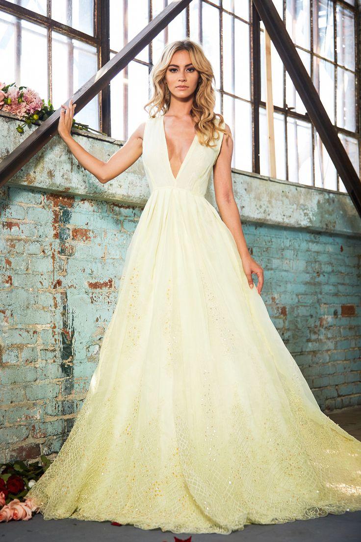 yellow wedding dresses yellow wedding dress Lurelly Bridal High Fashion Wedding Dresses Inspiration