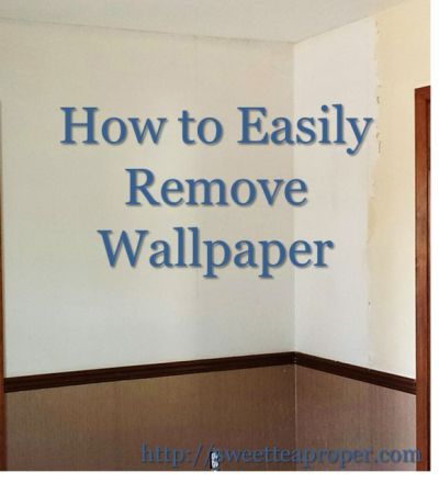 How to Remove Wallpaper (Easy)   Removing Wallpaper   DIY Home Renovation   Home DIY   Pinterest ...