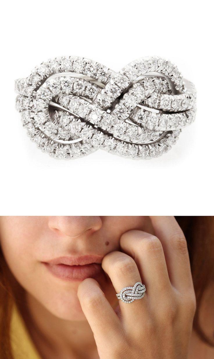infinity ring engagement infinity diamond wedding band Double infinity knot alternative wedding rings Women in Weddings Weigh in on Engagement Rings