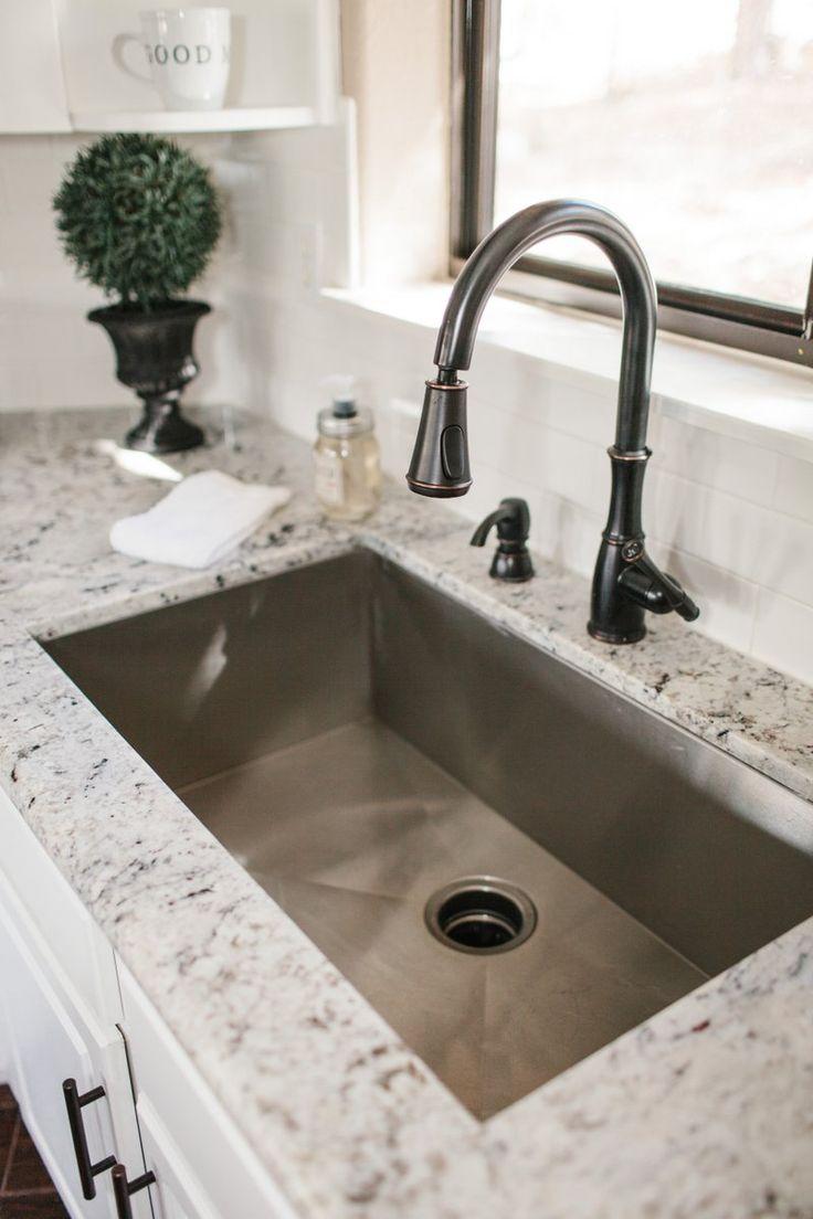 deep kitchen sinks kitchen sink sizes Kitchen Before After Our Flagstaff Vacation Home
