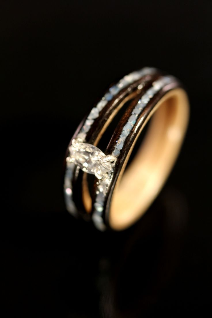 wood engagement ring wooden wedding rings How to Determine the Design of Wooden Wedding Rings diamond wooden wedding rings