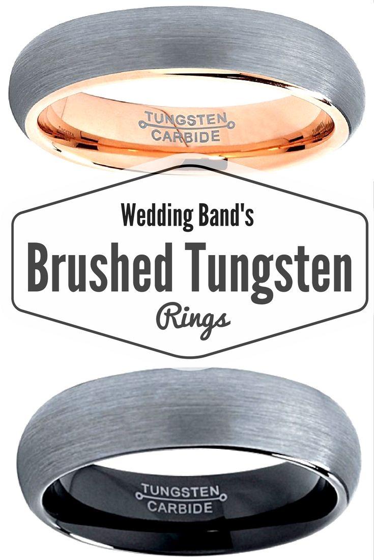 tungsten wedding bands tungsten hammered wedding band One of my favorite wedding bands are brushed tungsten wedding bands I love the rose