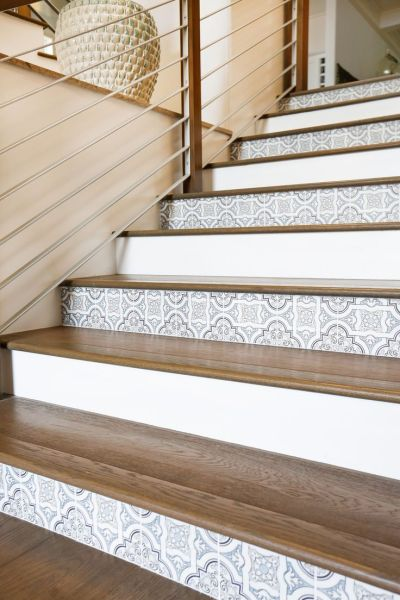 25+ Best Ideas about Tile On Stairs on Pinterest | Tile stairs, Wallpaper stairs and Wall ...