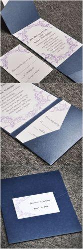affordable wedding invitations affordable wedding invitations elegant purple damask card and blue pocket affordable wedding invitation sets EWPI