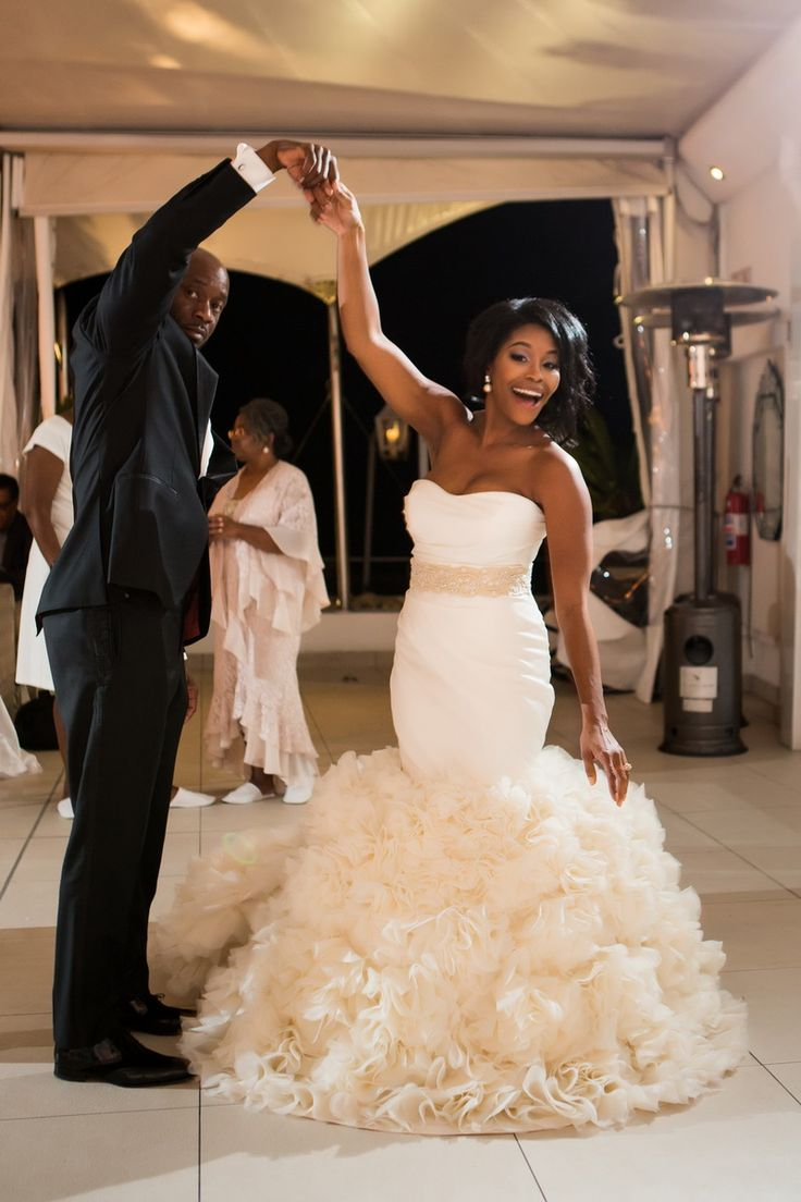 african weddingdresses african american wedding dresses Real Weddings South Africa Kimya Gregory Blackbride com African American