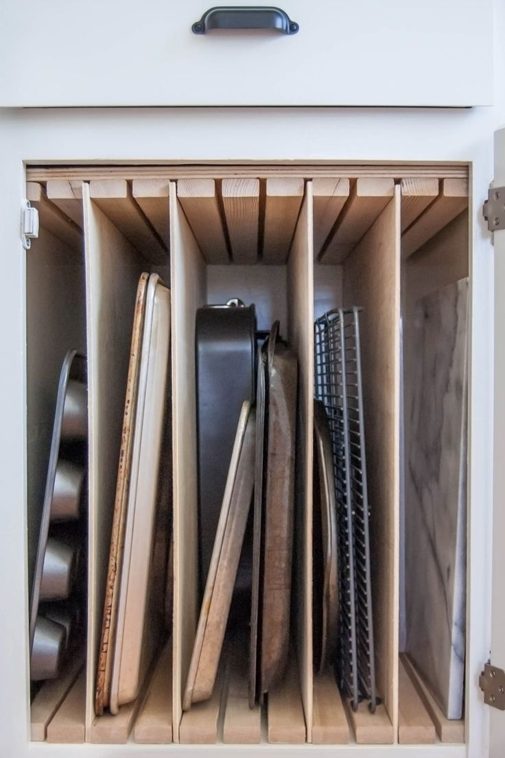 pan storage kitchen organization ideas Here s How Hidden Cabinet Hacks Dramatically Increased My Kitchen Storage