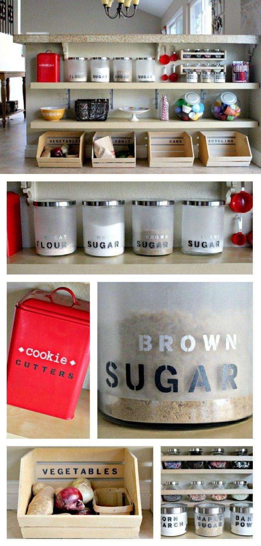 kitchen organization ideas diy kitchen ideas Top 10 Awesome DIY Kitchen Organization Ideas