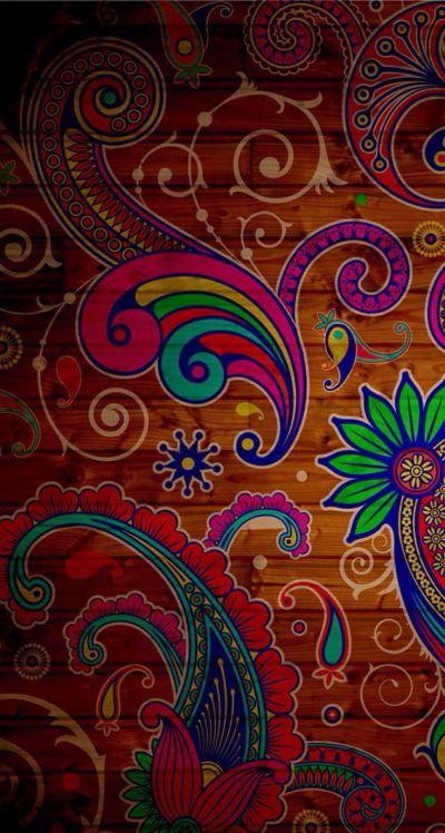 Paisley Pattern Wood iPhone5 Wallpaper. | Paisley Crazy | Pinterest | Paisley Pattern ...