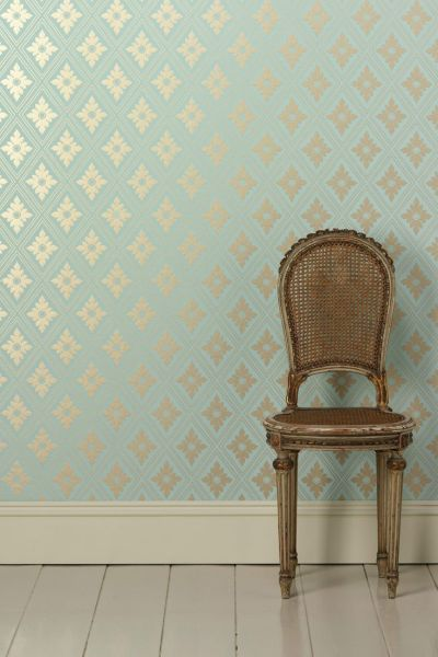 Farrow & Ball wallpaper / RANELAGH / BP 1847 / roll width = 53cm/21in / roll length = 10m ...