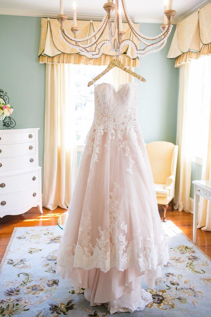white lace wedding dress blush colored wedding dresses 25 Best Ideas about White Lace Wedding Dress on Pinterest Lace wedding dresses Garden wedding dresses and I dress